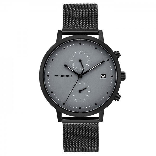 Herrenuhr grau schwarz - Cosmo Black|Watchpeople