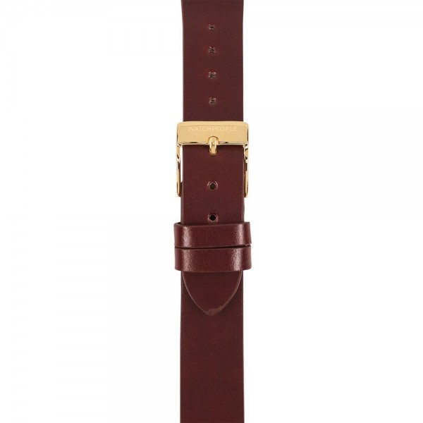 Lederband Structure bordeaux - 16 mm